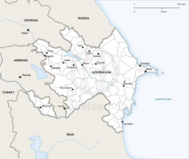Map of Azerbaijan political
