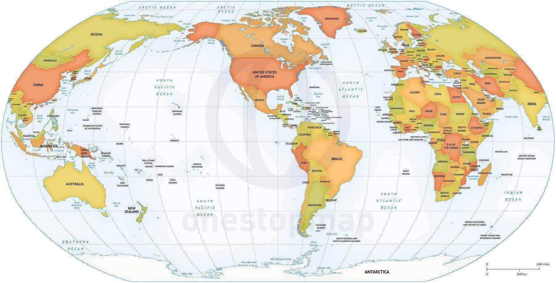 image relating to Printable Map of World identify Map of Globe political Robinson The united states based mostly