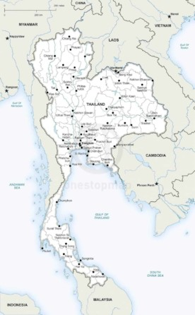 Map of Thailand political