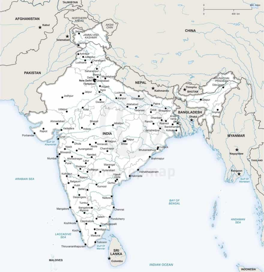 Map of India political