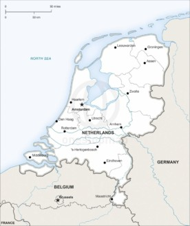 Map of Netherlands political