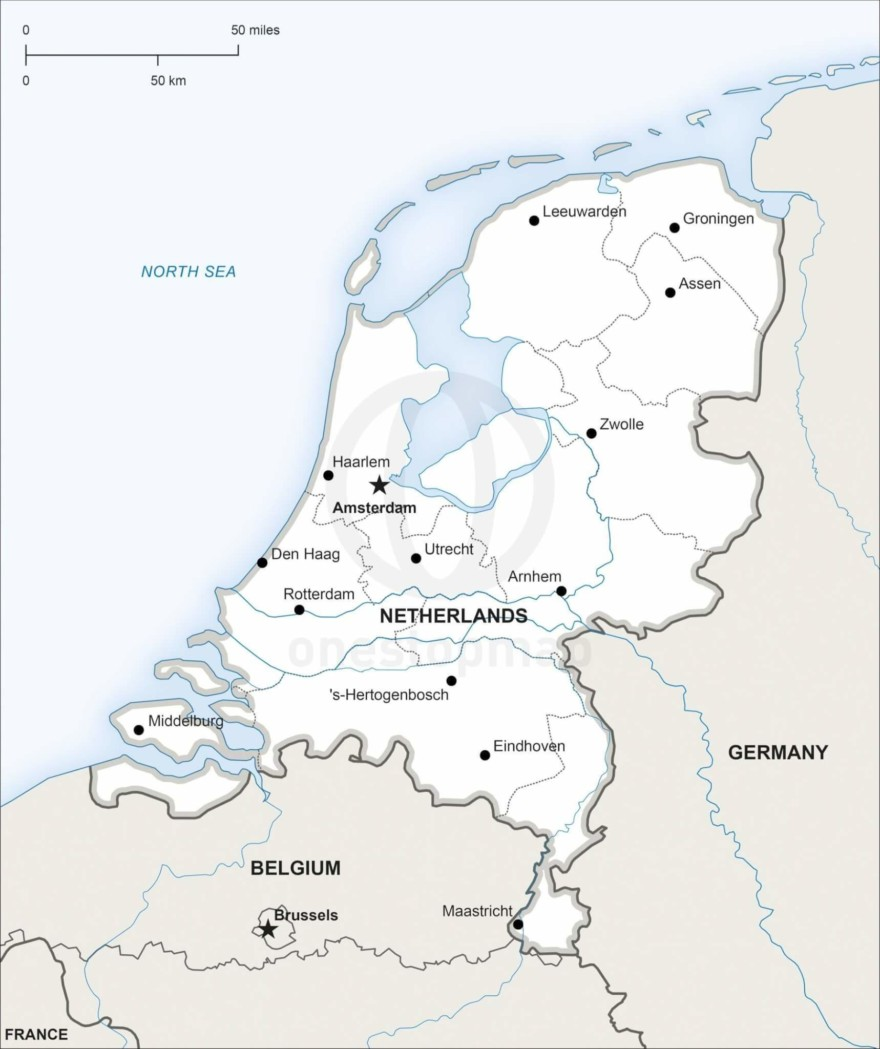 Map of Netherlands political