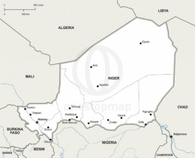 Map of Niger political