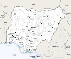 Map of Nigeria political