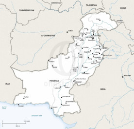 Map of Pakistan political