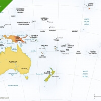 Map of Australia continent political