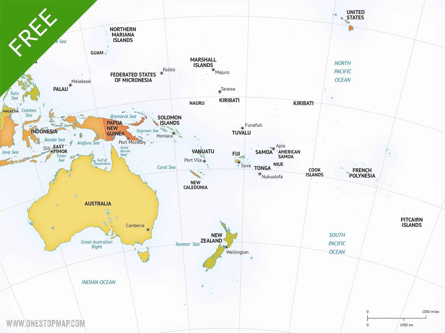 Australia Map Vector Ai.Free Vector Map Of Australia Continent One Stop Map