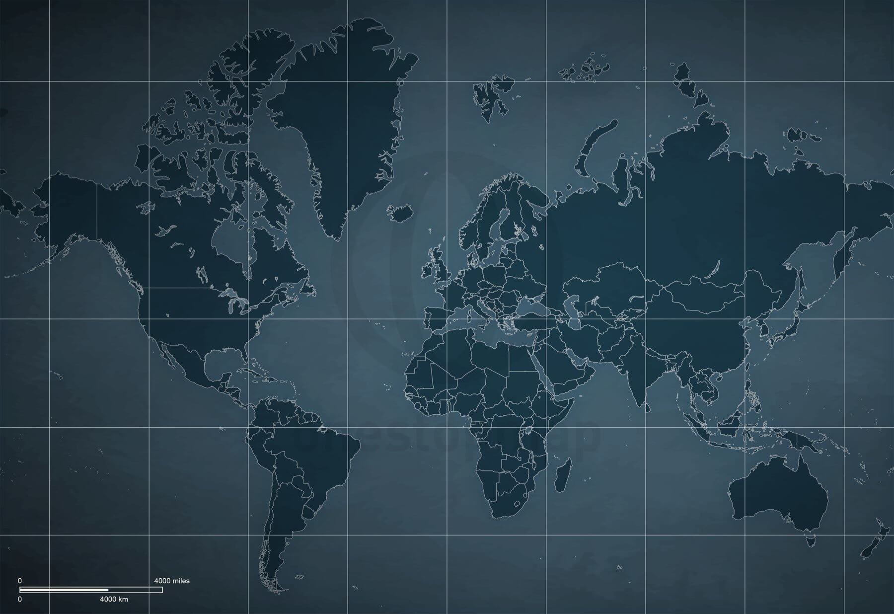 Digital Map Of The World.Digital World Maps Sci Fi Map Style One Stop Map