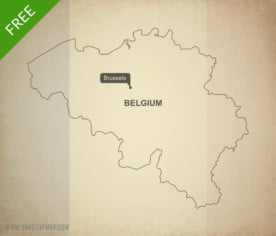 Map of Belgium outline