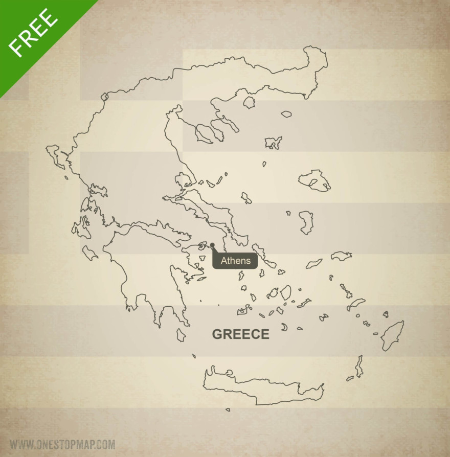 Map of Greece outline