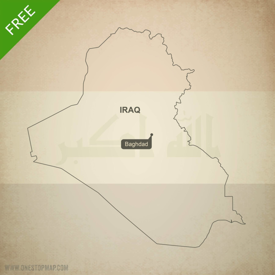 Map of Iraq outline
