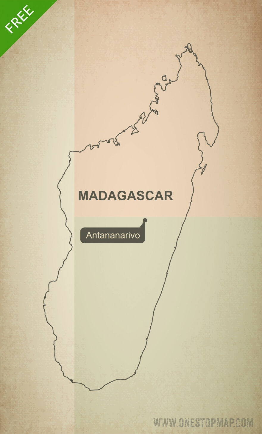 Map of Madagascar outline