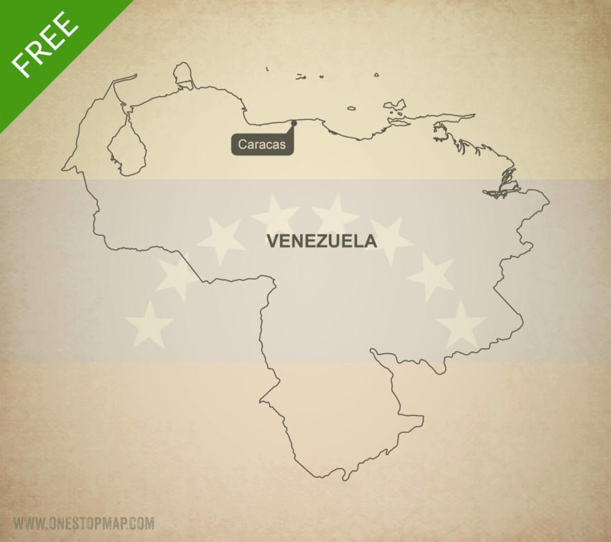 Map of Venezuela outline