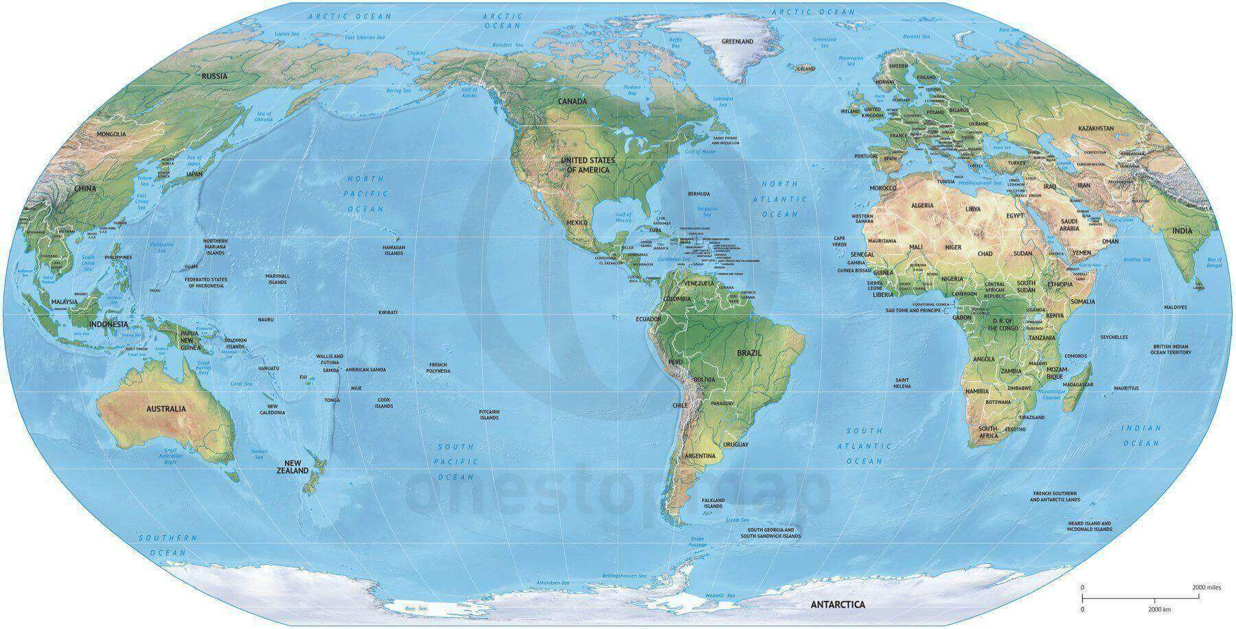 Vector map world relief robinson america one stop map 174 world political shaded relief robinson america centered gumiabroncs Image collections