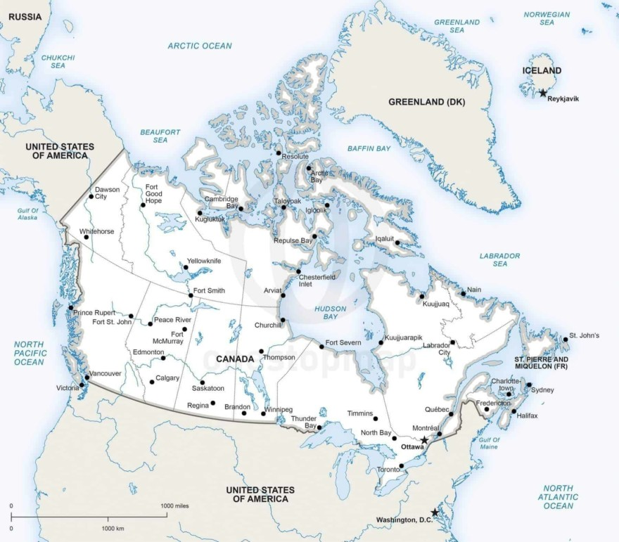 Map of Canada political
