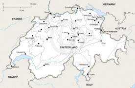 Free Vector Map of Switzerland Outline One Stop Map