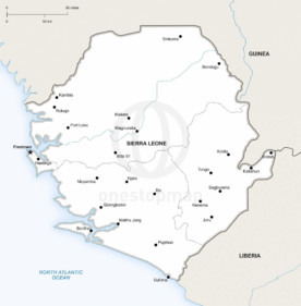 Map of Sierra Leone political