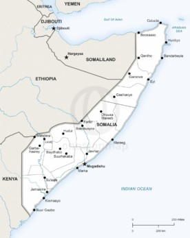 Map of Somalia political