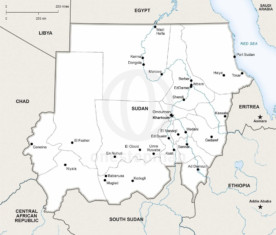 Map of Sudan political