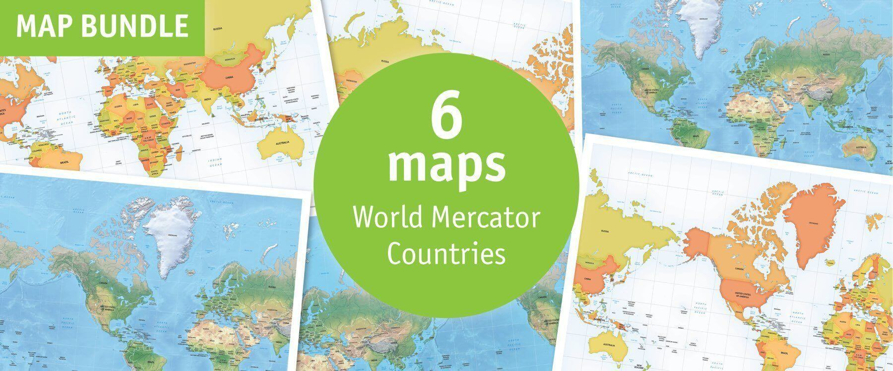 Catalog Digital World Maps One Stop Map - Maps of world