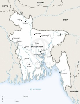 Map of Bangladesh political
