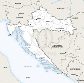 Map of Croatia political