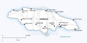 Vector Map Of Jamaica Political One Stop Map - Political map of jamaica