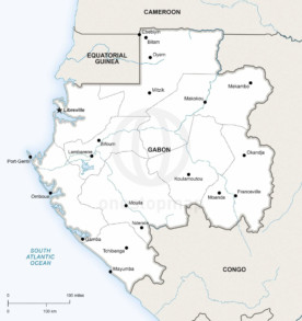 Map of Gabon political