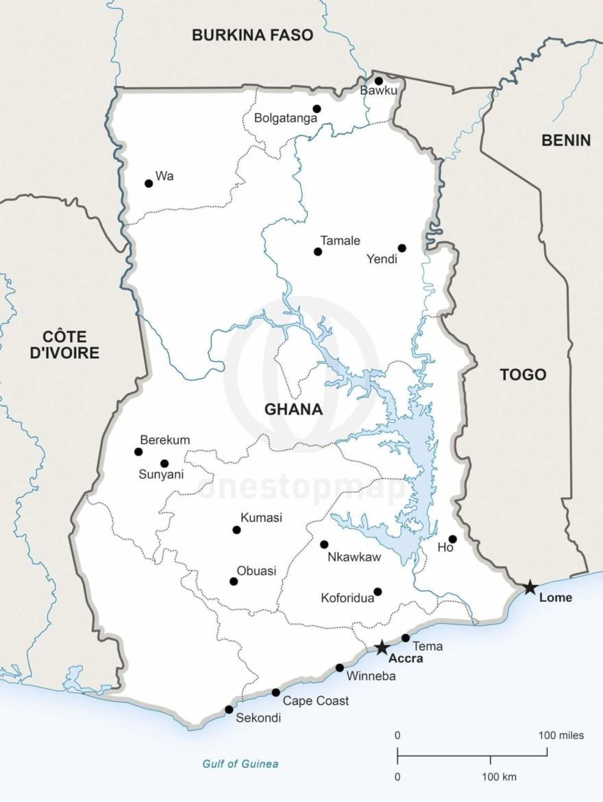 Map of Ghana political