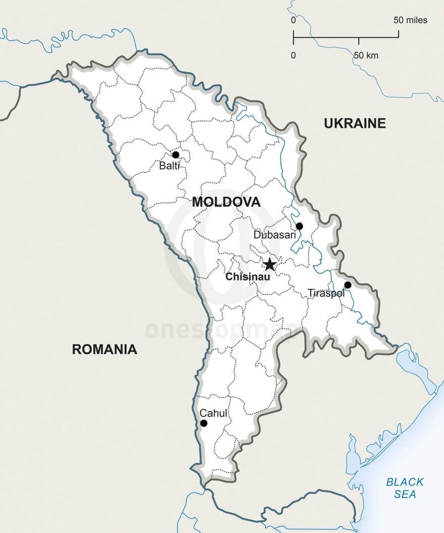 Map of Republic of Moldova political