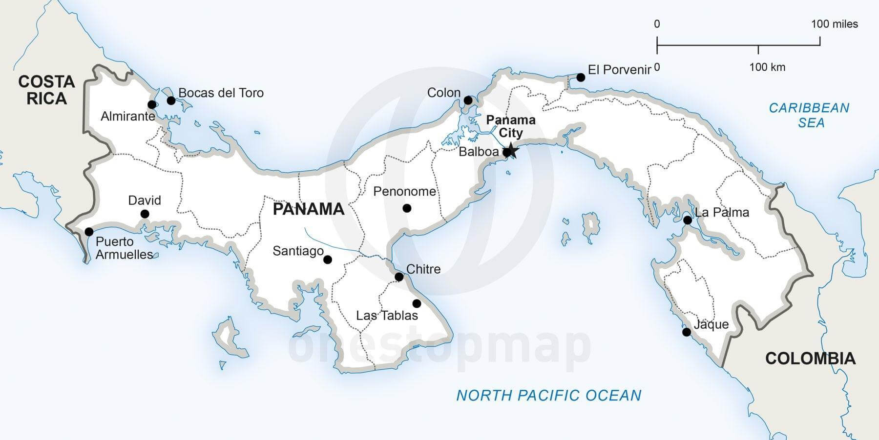 Vector Map Of Panama Political One Stop Map