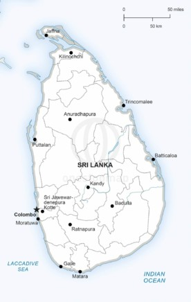 Free Vector Map of Sri Lanka Outline | One Stop Map