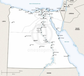 Free Vector Map Of Egypt Outline One Stop Map - Map of egypt