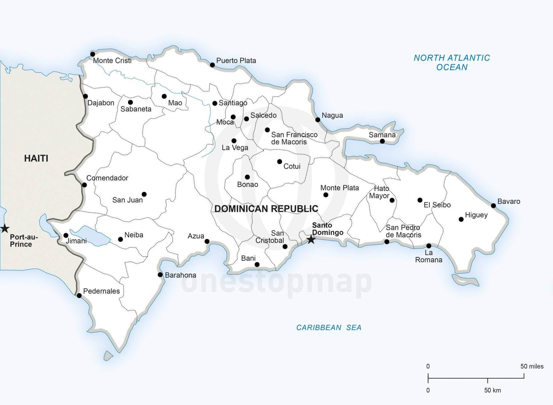 Vector Map of Dominican Republic Political  One Stop Map