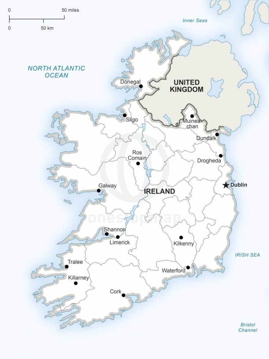 Map of Ireland political