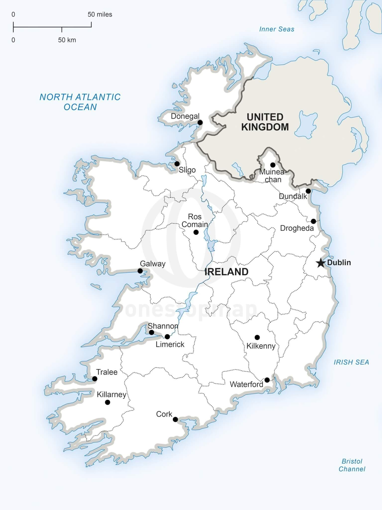 ireland political map images