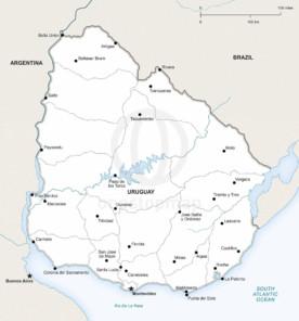 Map of Uruguay political