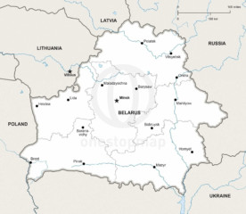 Map of Belarus political