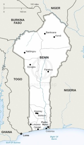 Map of Benin political