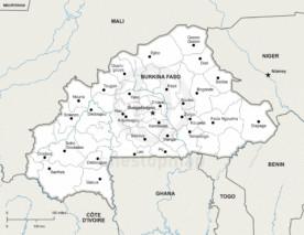 Map of Burkina Faso political