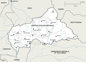 Map of Central African Republic political