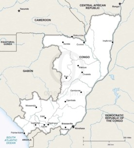 Map of Congo political