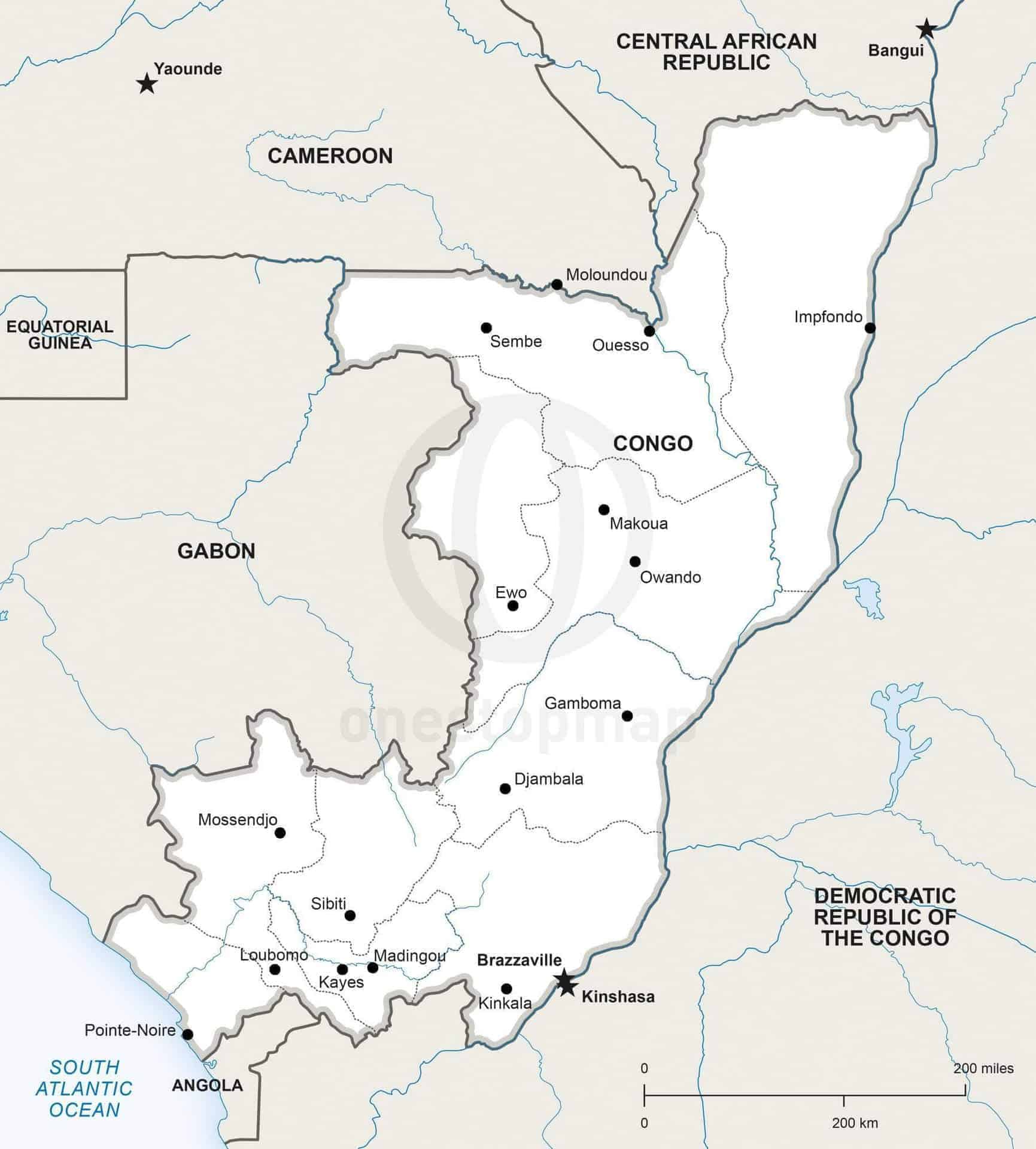 Map of Congo political
