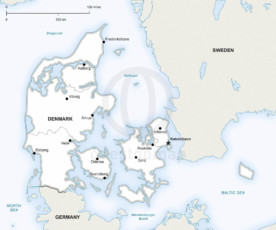 Map of Denmark political