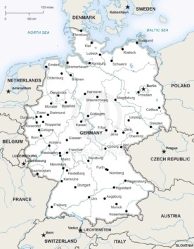 Map of Germany political