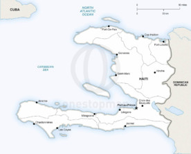 Map of Haiti political