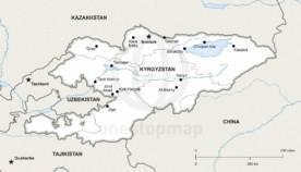 Map of Kyrgyzstan political
