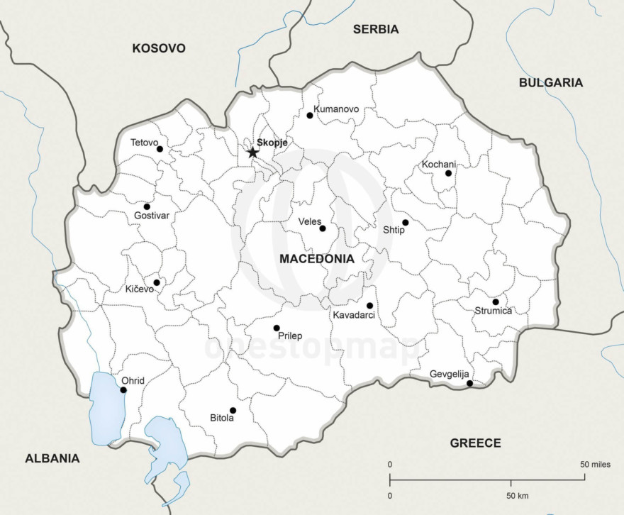 Map of Macedonia political