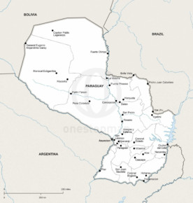 Map of Paraguay political