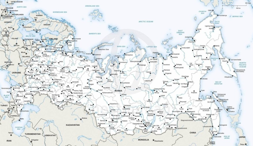 Vector map of Russia political